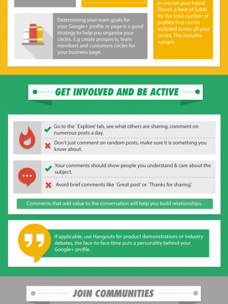 How To Improve Engagement on GooglePlus Infographic