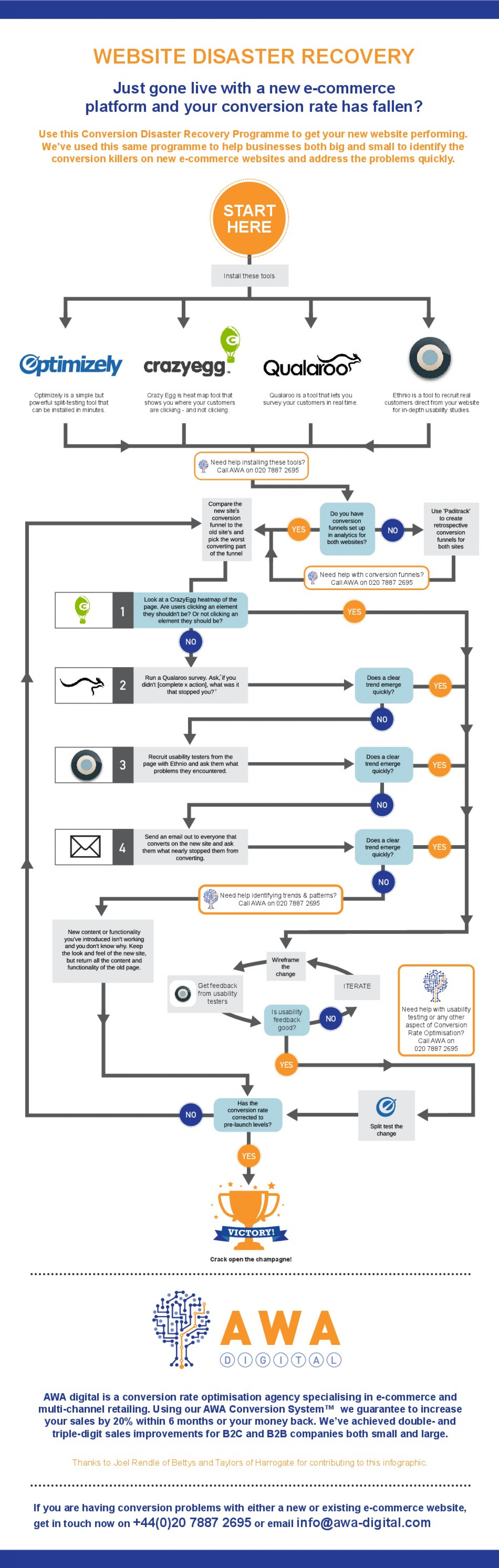 Website Disaster Recovery Infographic