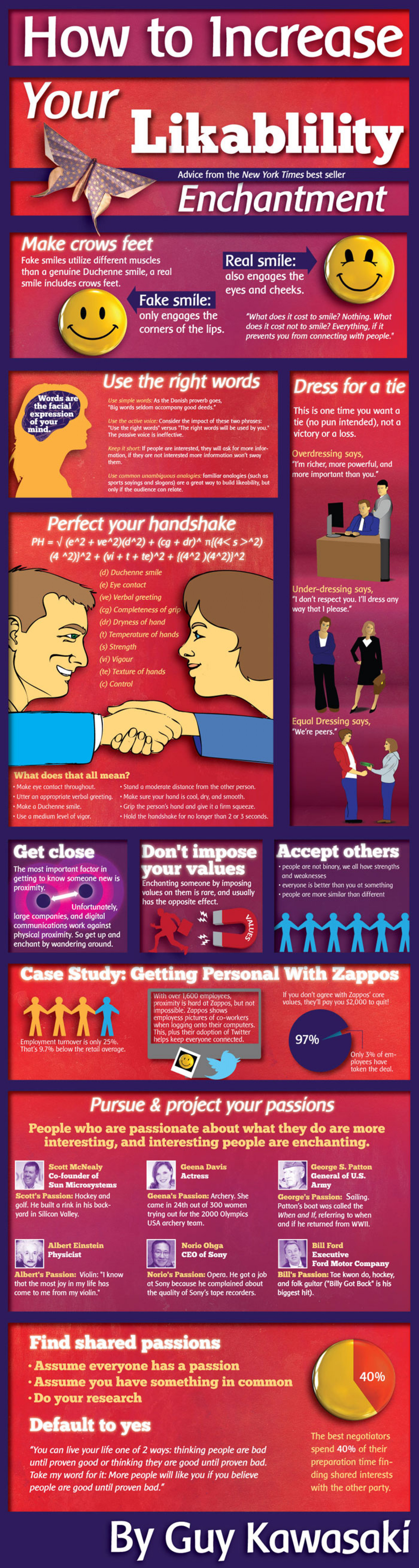 How to Increase Your Likeability Infographic
