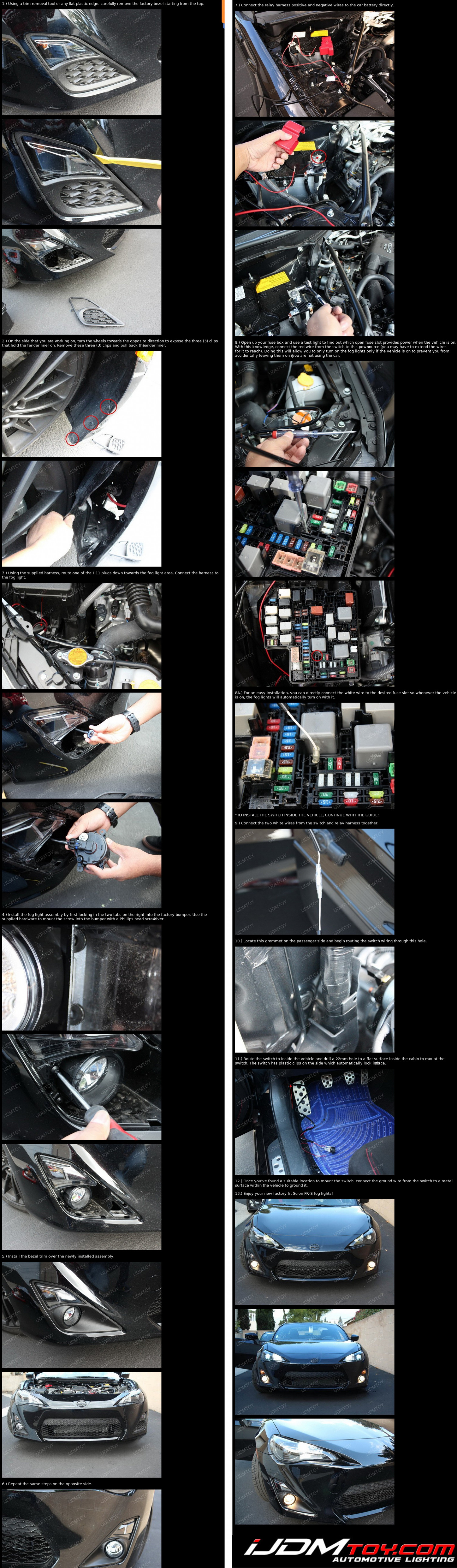 How To Install Fog Lights For Scion FR-S Infographic