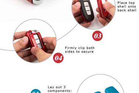 How to Install Key Fob Holder Shell Infographic