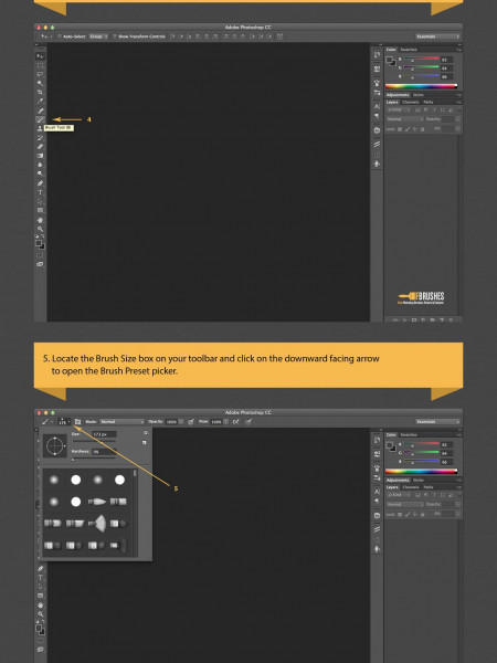 How to Install Photoshop Brushes Infographic