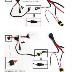 how to install relay harness for hid conversion kit visual ly