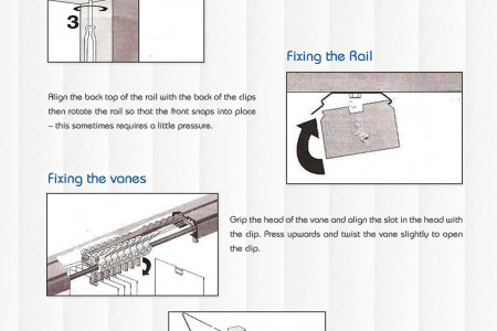 How to Install Vertical Blinds? Infographic