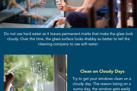 How to Keep Glass in Your Office Sparkling Clean? Infographic