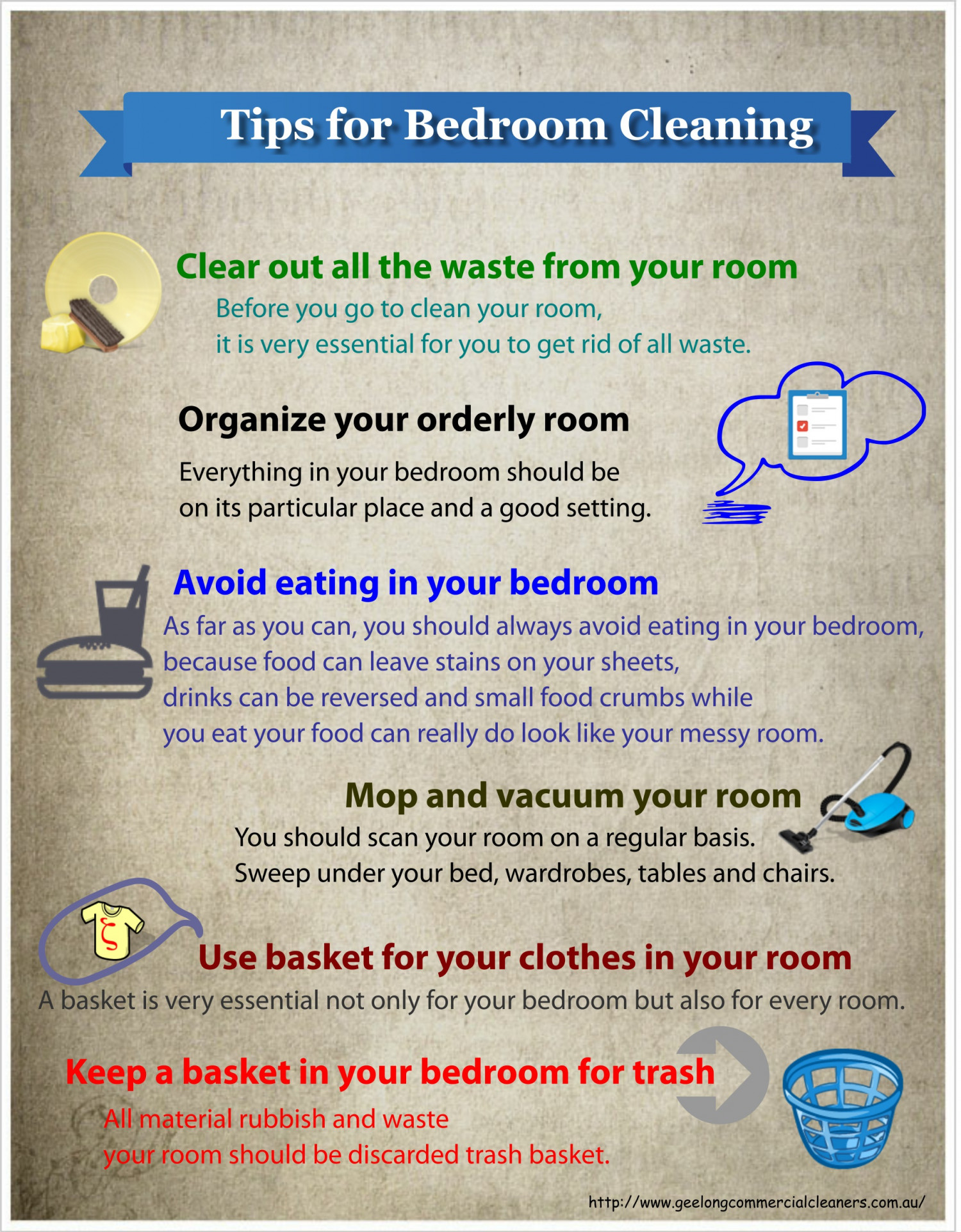 Tips For Bedroom Cleaning Ucollect Infographics