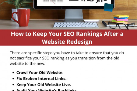 How to Keep Your SEO Rankings After a Website Redesign Infographic