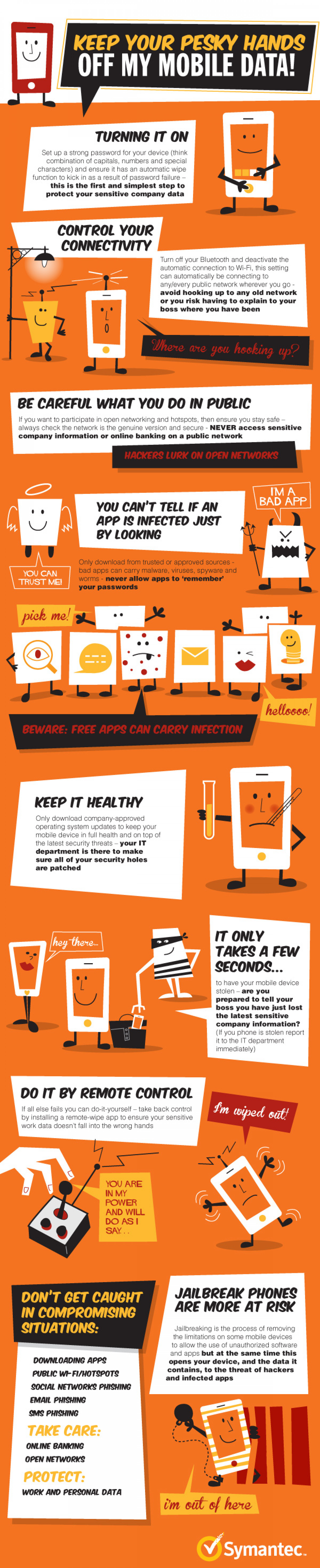 How to Keep Your Smartphone Safe & Secure Infographic Infographic