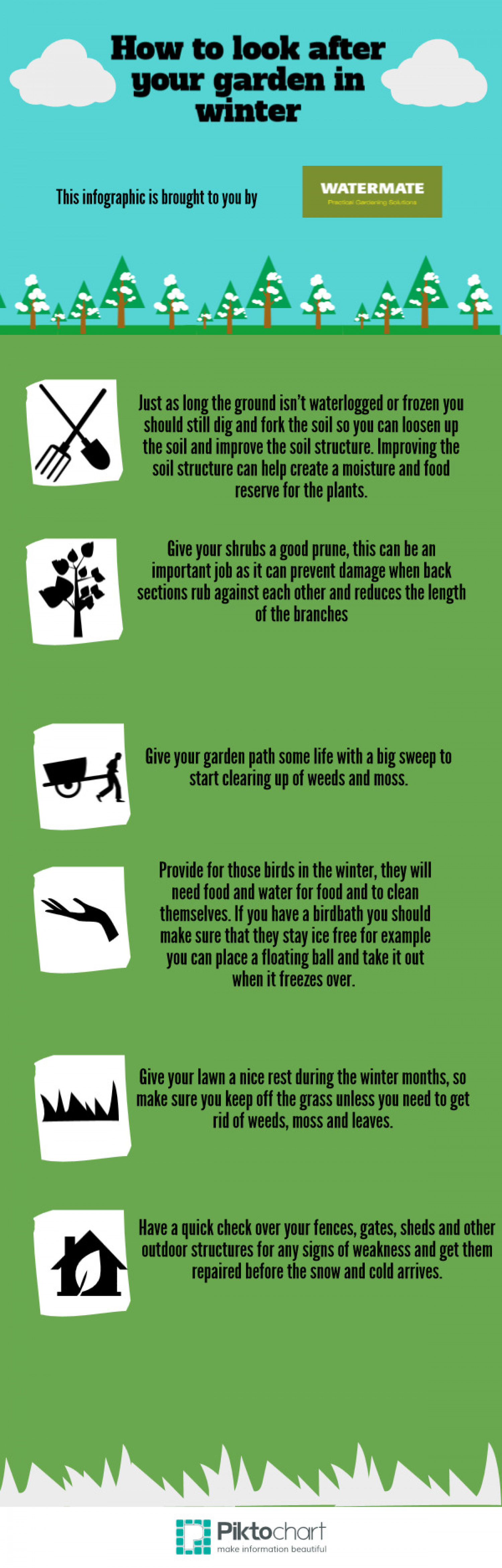 How to Look after your garden in the winter Infographic
