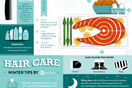 HOW TO MAINTAIN HEALTHY HAIR THIS WINTER Infographic