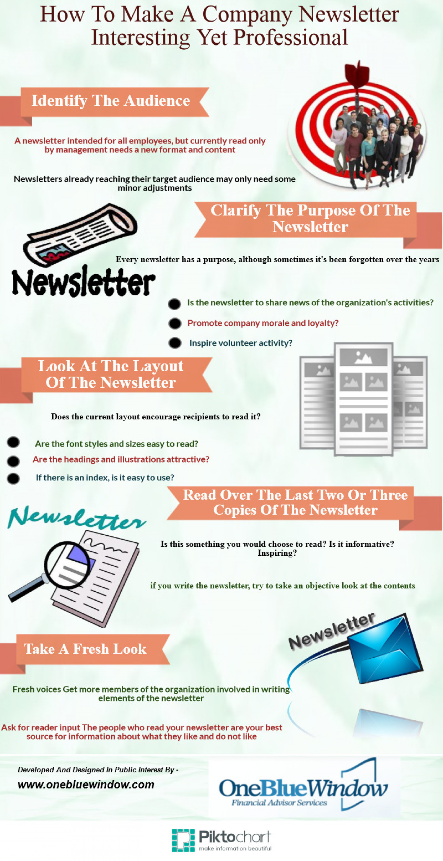 how to make a company newsletter interesting yet professional