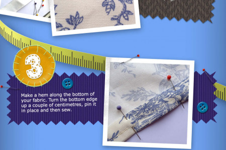 How to make a skirt (without a tape measure) Infographic