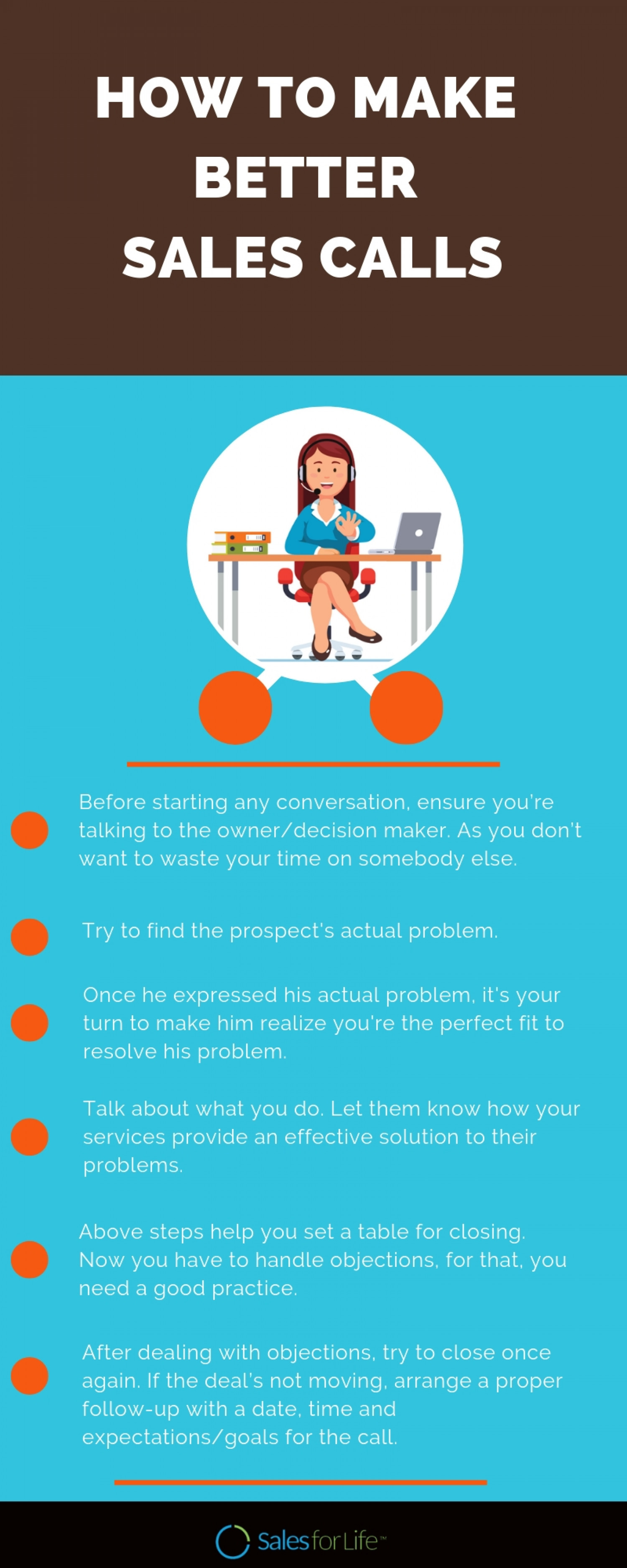 How To Make Better Sales Calls? Infographic