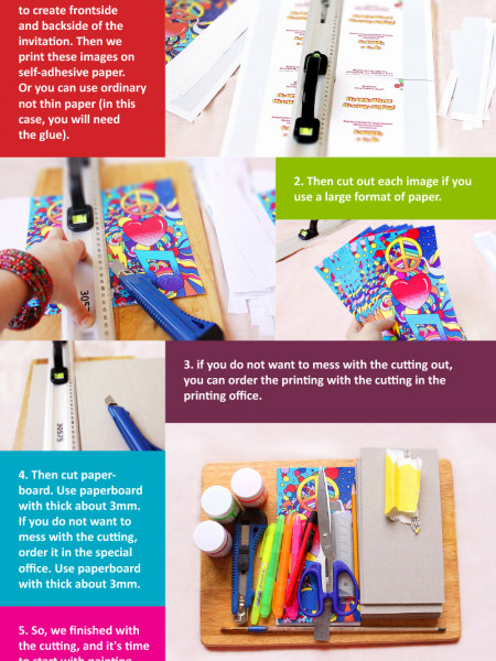 How to make cool creative wedding invitation Infographic