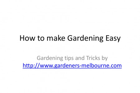 How to Make Gardening Easy Infographic
