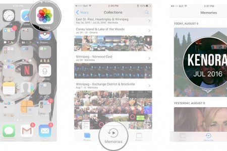 How To Make 'Memories' Photo Slideshows On iPhone and iPad? Infographic