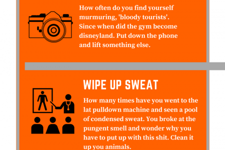 How to make the gym a better place. Infographic