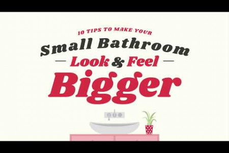 How to Make Your Small Bathroom Look Bigger Infographic