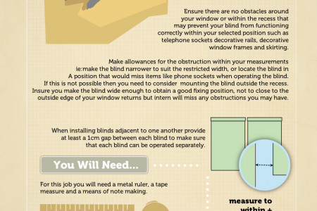 How to Measure and Fit Blinds in Your Home Infographic
