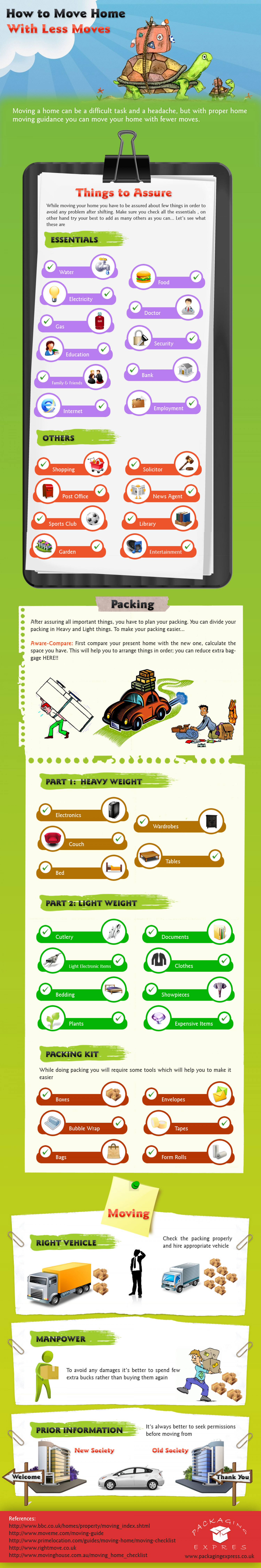 How To Move Home With Less Moves Infographic