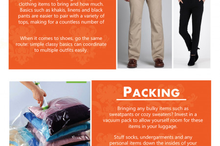 How to pack for an extended stay Infographic