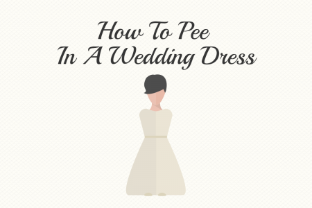 How To Pee In A Wedding Dress Infographic