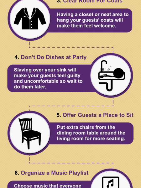 10 Tips For Hosting A Stress-Free Get Together Infographic