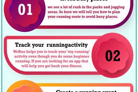 How to plan my running route to avoid busy places? Infographic