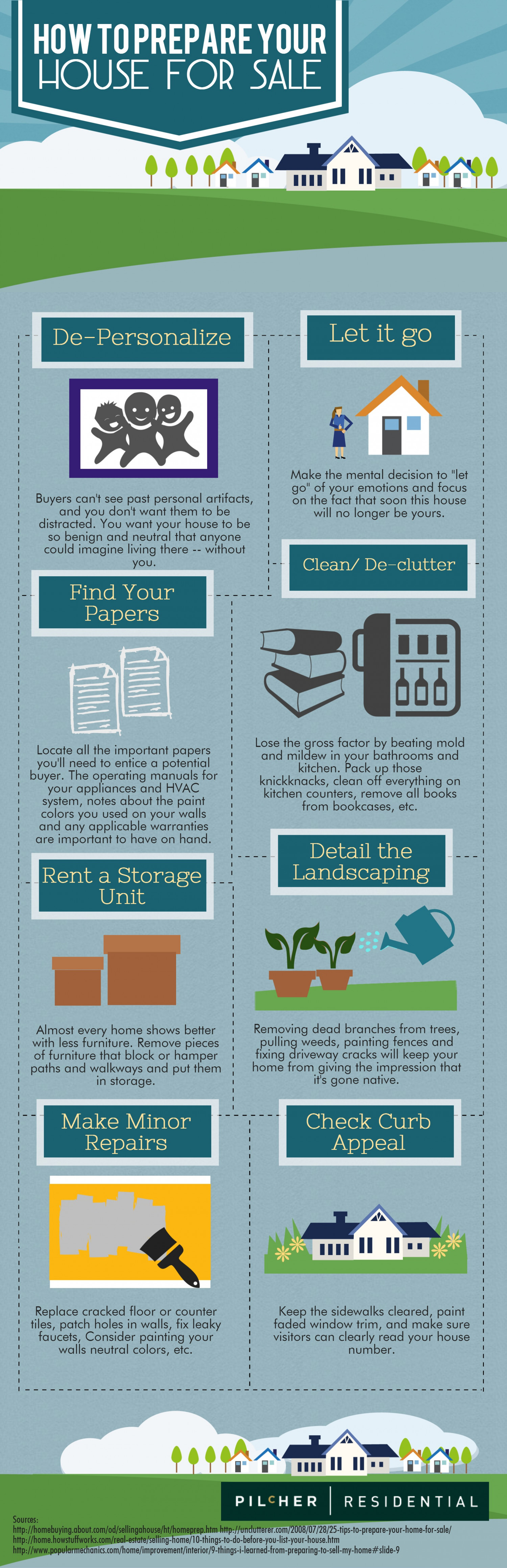 How To Prepare Your House for Sale Infographic