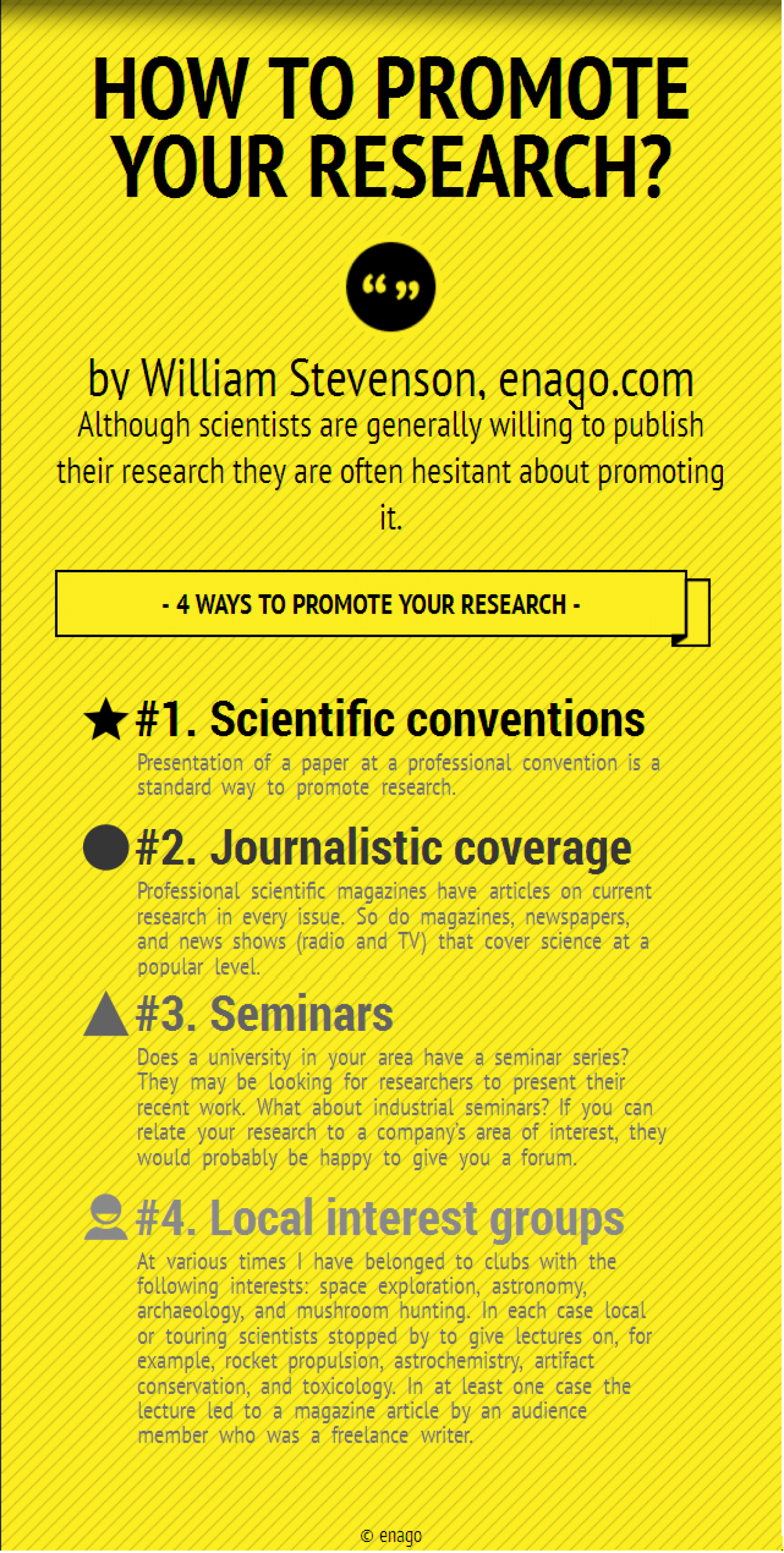 How to Promote Your Research? Infographic