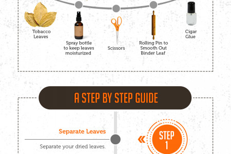 How to Properly Roll a Cigar Infographic
