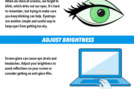 How to protect your eyes if you stare at screens all day  Read more: http://www.businessinsider.com/do-computer-screens-hurt-your-eyes-2015-2#ixzz3UiKQw3ac Infographic