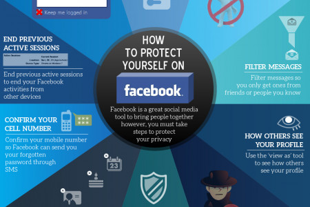 How to Protect Yourself on Facebook  Infographic