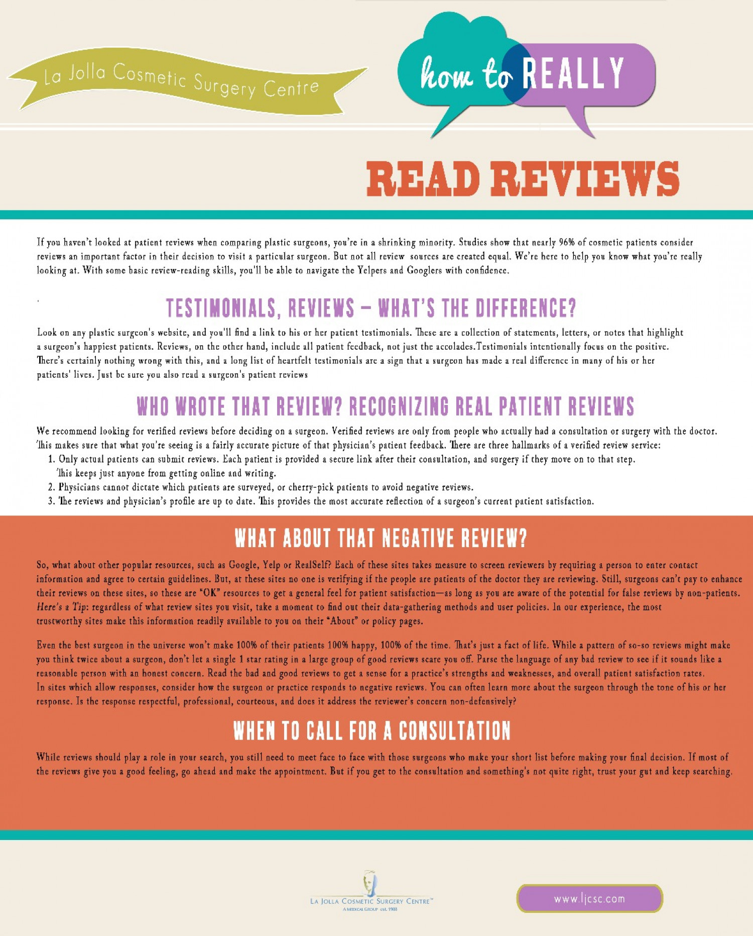 How to Really Read Reviews Infographic