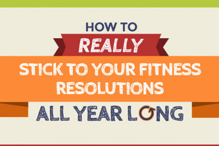 How to Really Stick to Your Fitness Resolutions All Year Long Infographic