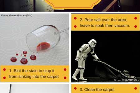 How to remove wine stains from carpet Infographic