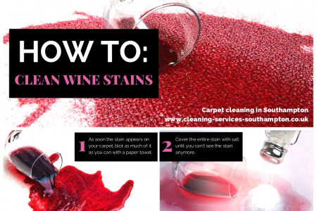 How to remove wine stains Infographic