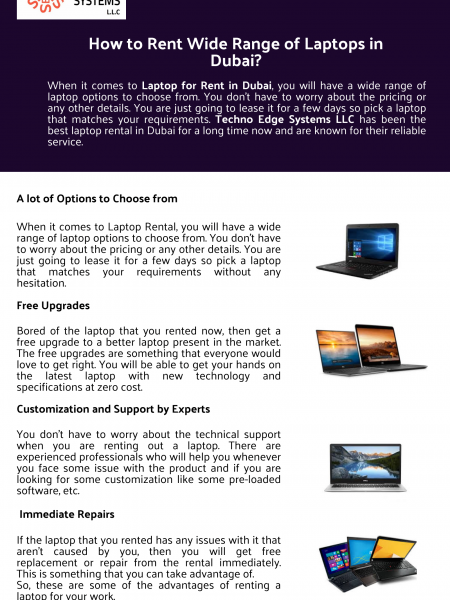 How to Rent Wide Range of Laptops in Dubai? Infographic