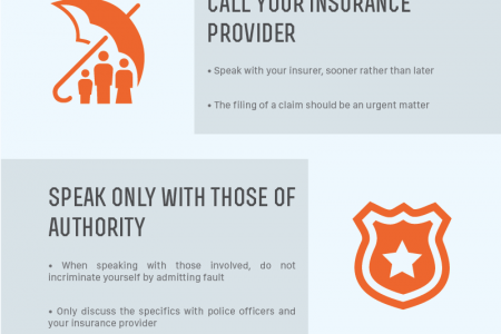 How to Respond Immediately Following an Auto Accident Infographic