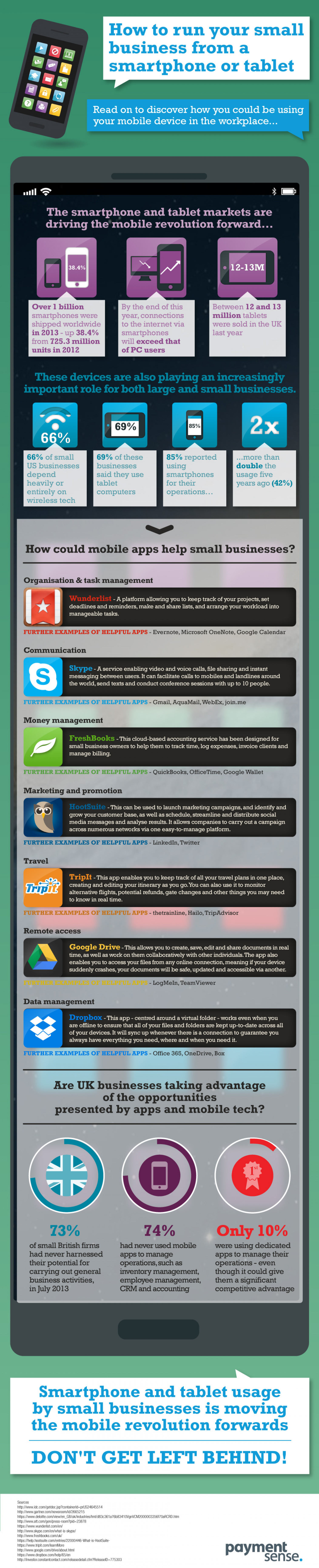 How to Run Your Small Business From a Smartphone or Tablet  Infographic