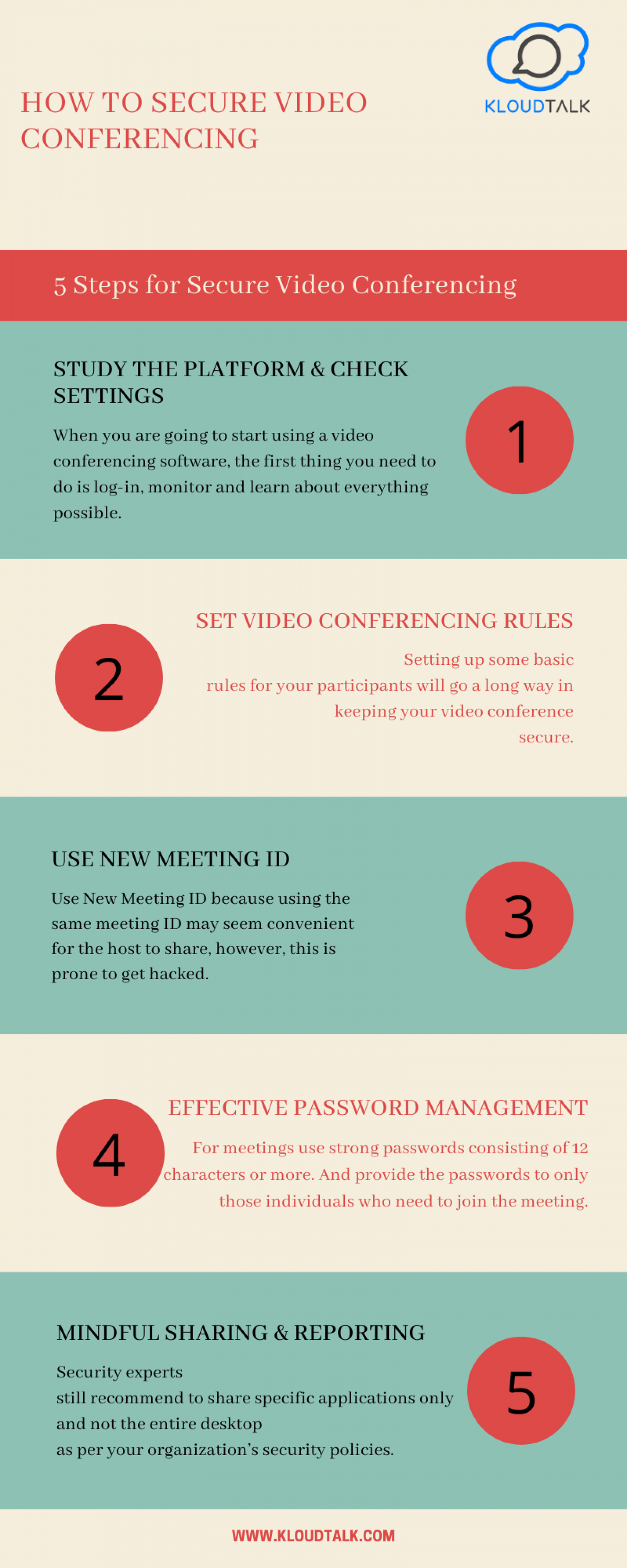 How to Secure Video Conferencing Infographic