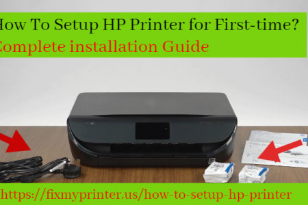How To Setup HP Printer for First-time?   Complete installation Guide Infographic