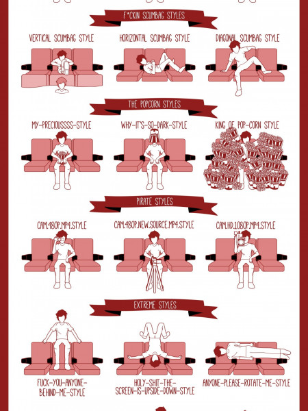 How To Sit Stylishly In Cinema Infographic