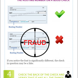 how to tell if a check is fake