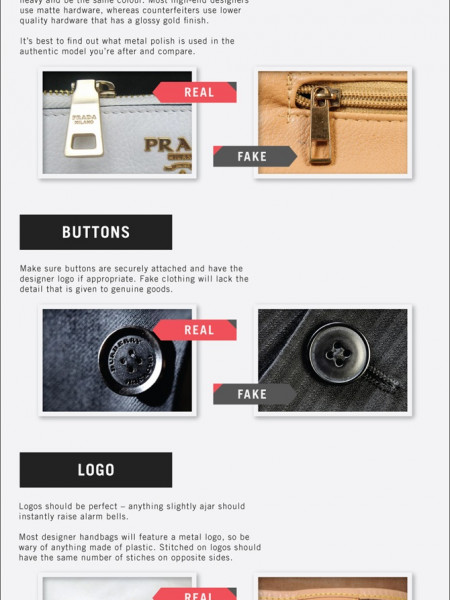 How To Spot Fake Fashion Infographic