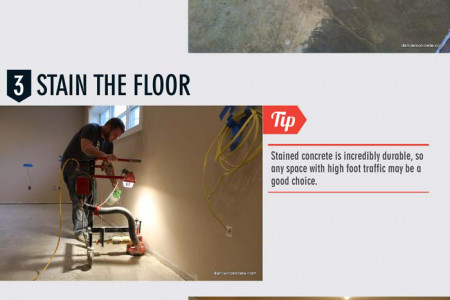 How to Stain Your Concrete Floors Infographic
