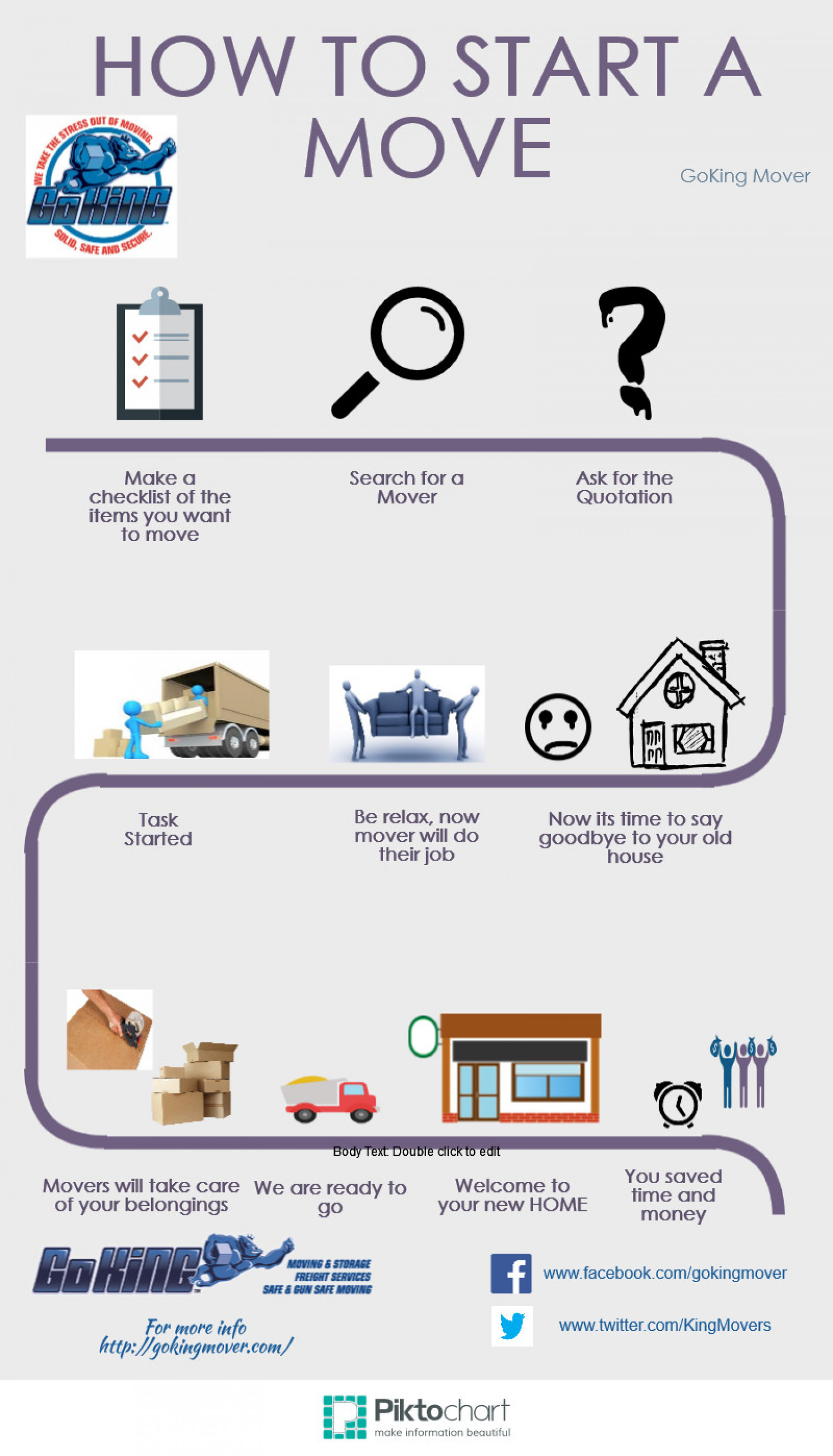 How to start a move Infographic