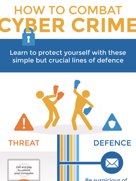 How To Combat Cyber Crime Infographic