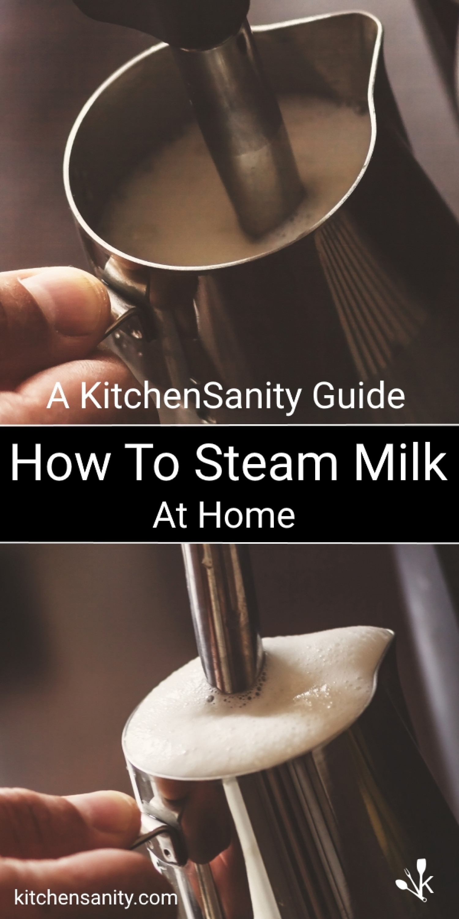 How To Steam & Froth Milk Infographic