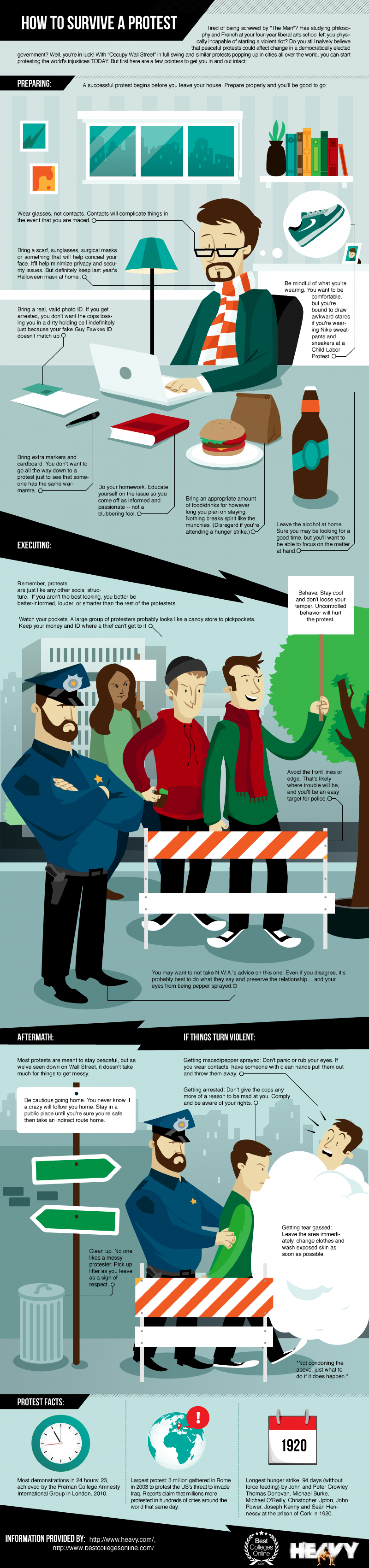 How to Survive a Protest  Infographic